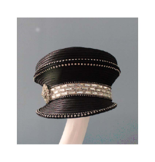 Dome Crown Ribbon Cap w/bib