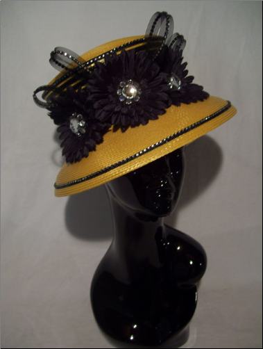 Black/Gold Joker Crown Hat