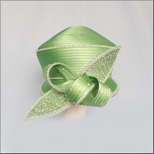 Basic Ribbon Cap w/cross bow
