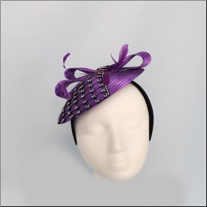 China-doll hat w/bow and mesh