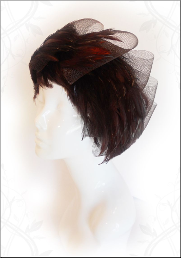 Basic Brown Feathers / Mesh Headband